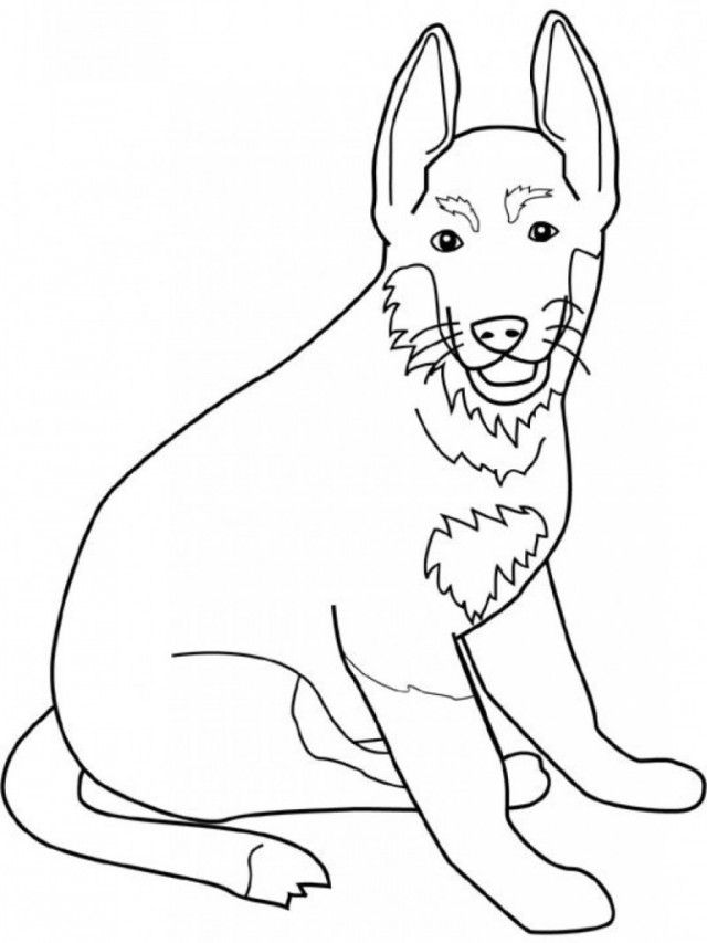 German Shepherd Coloring Pages Free Kids Colouring Pages 258547