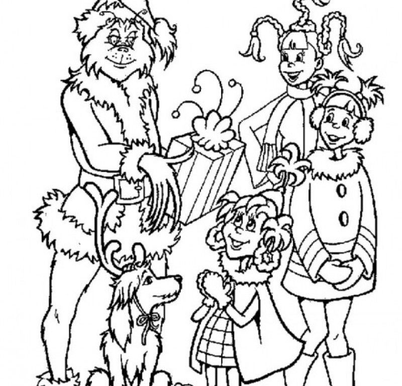 The Grinch Stole Christmas Coloring Pages