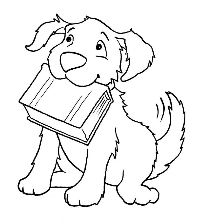 Dog coloring book page az coloring pages for Coloring page book
