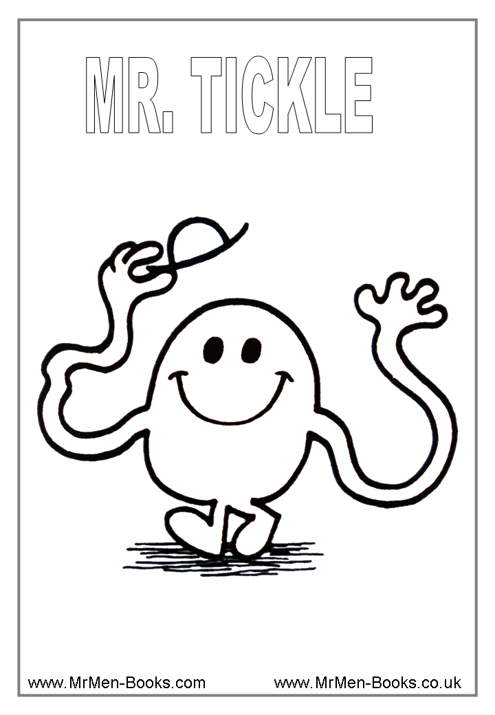 Mr Men Characters Colouring Pages Coloring Home