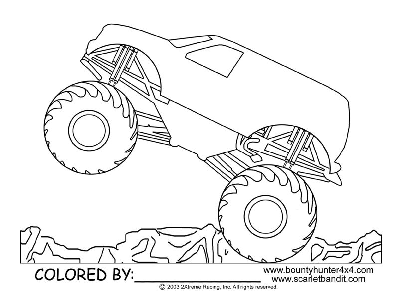 Monsterjam free coloring pages for Monster jam coloring pages