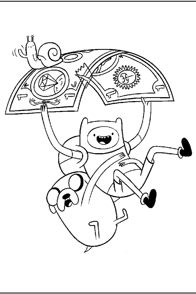coloring pages of adventure time - photo#18