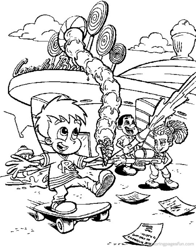 jimmy nuetron printable coloring pages - photo#31