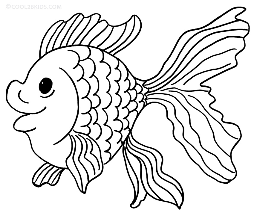 goldfish cracker coloring page - comet goldfish pages coloring pages