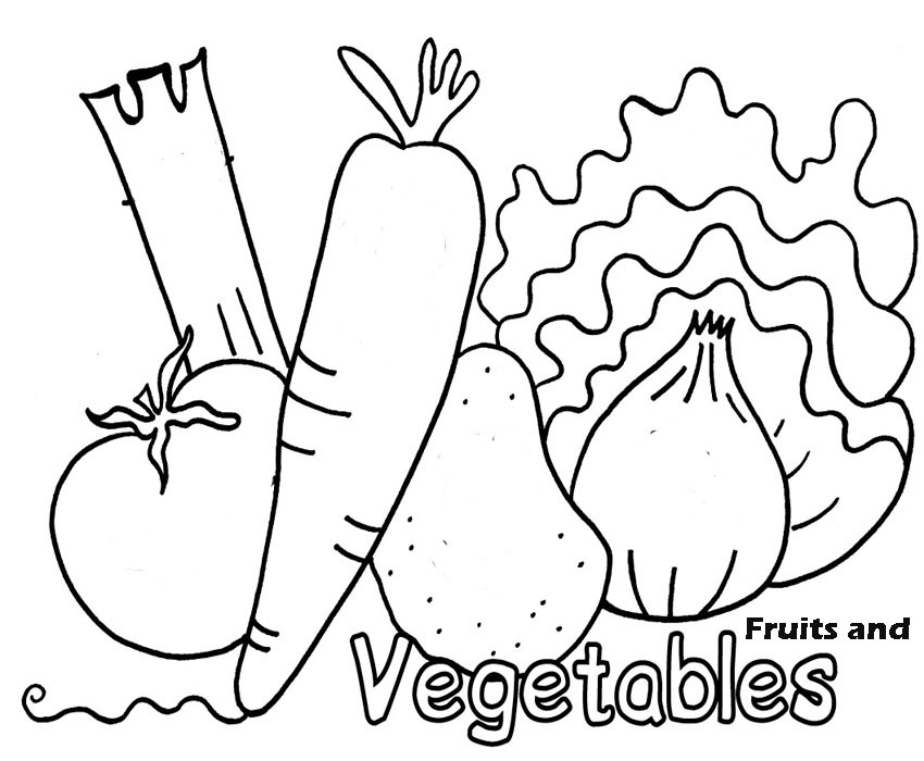Coloring Pages For Adults Vegetables : Fruit and vegetable coloring page az pages