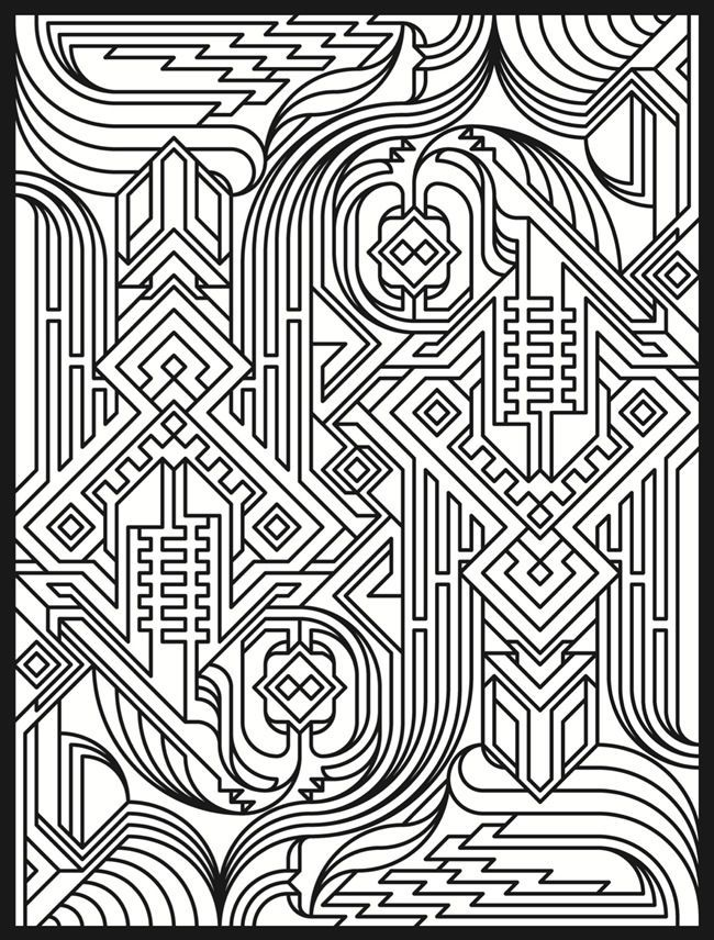 9 Printable Animal Coloring Pages Geometric Design Pattern Images ... | 856x650