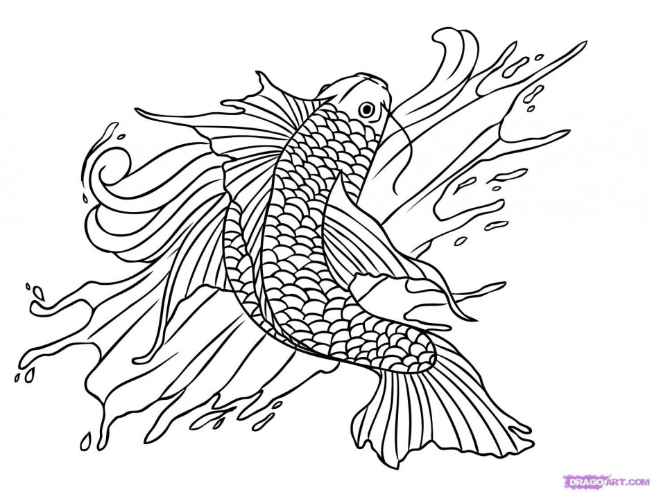 japanese fish coloring pages - photo#10