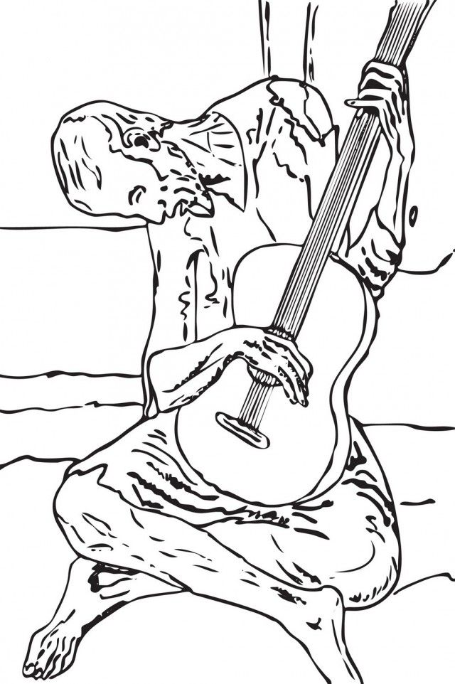 Pablo Picasso Coloring Pages Online Coloring Pages Princess 187007