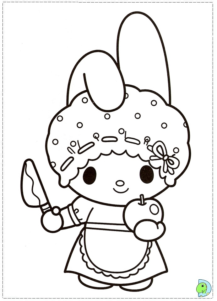 my melody coloring page dinokids az pages on adjectives worksheet ...