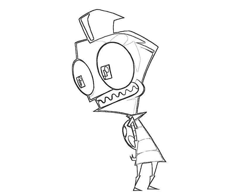 invader zim coloring pages online - invader zim printable coloring pages coloring home