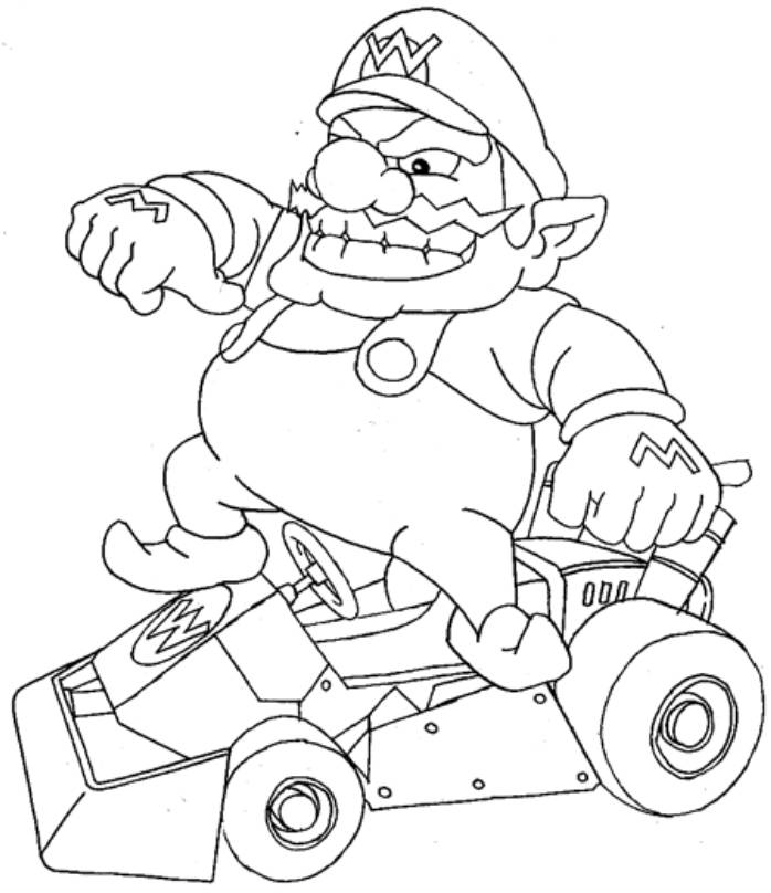 Wario Coloring Pages Coloring