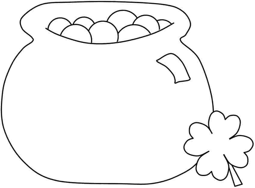 Cartoon Pot Of Gold Az Coloring Pages Pot Of Gold Coloring Page