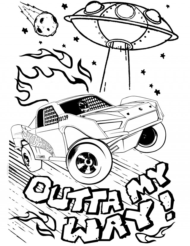 Hot Wheels Coloring Page - AZ Coloring Pages