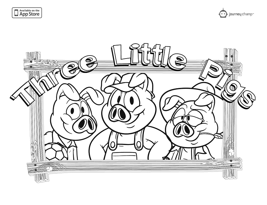three little pigs coloring page coloring home