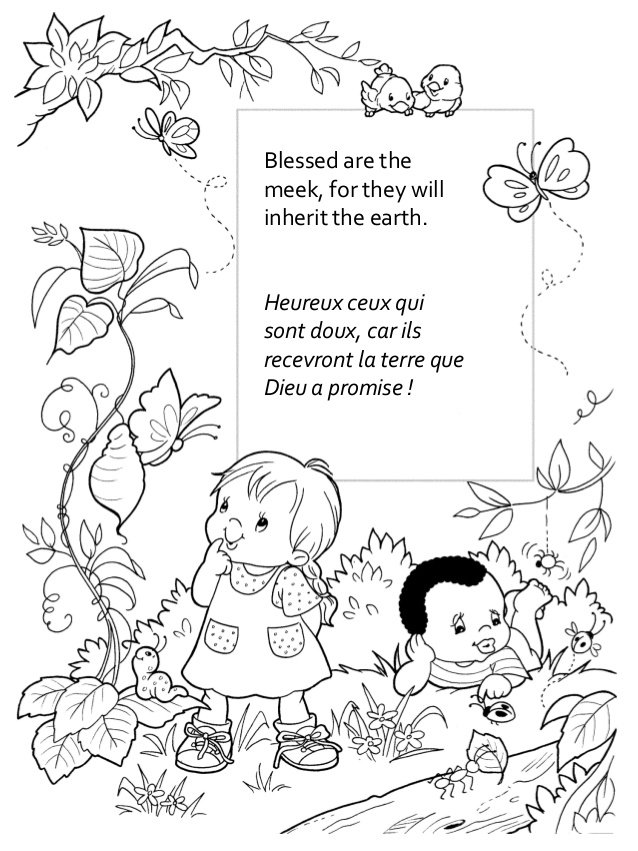 coloring pages beatitudes - photo#6