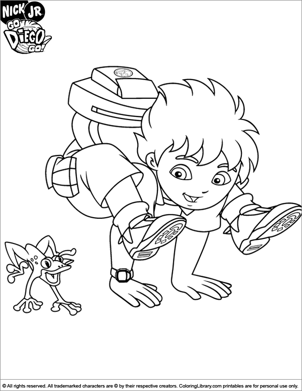 Diego Coloring Pages 2