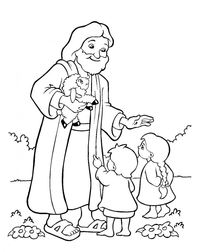bible crafts coloring pages - photo#25