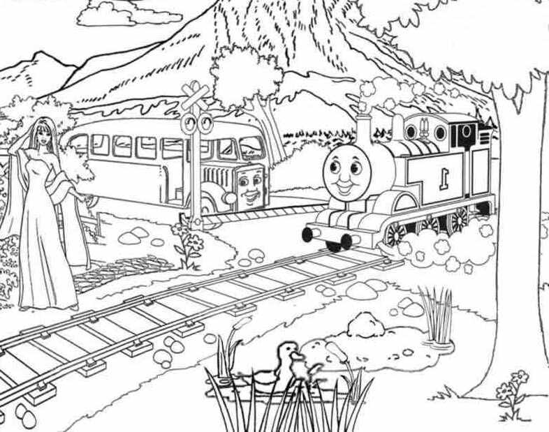 Thomas And Friends Across The Mountains Coloring For Kids |Thomas