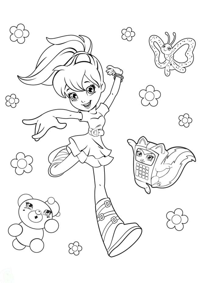 free polly pocket coloring pages - photo#27