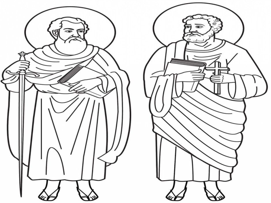 childrens coloring pages peter paul - photo#14