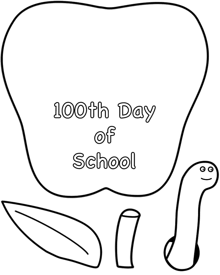 100 day coloring page - 100th day school coloring pages az coloring pages