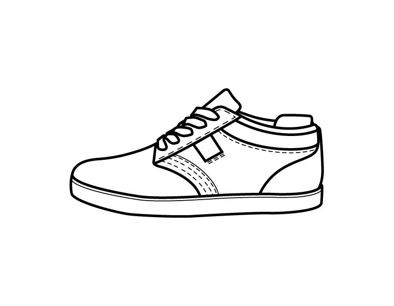 coloring book pages of shoes - photo#6