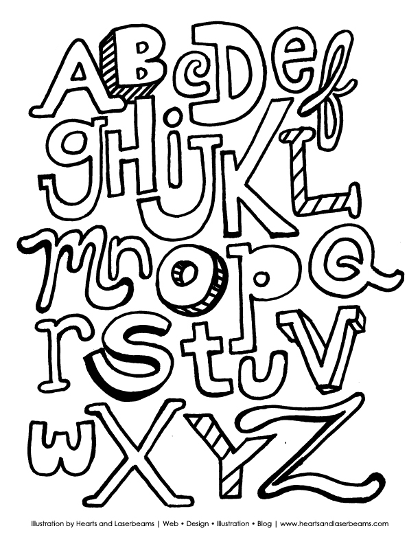 Whole Alphabet Coloring Pages Coloring Book Area Best