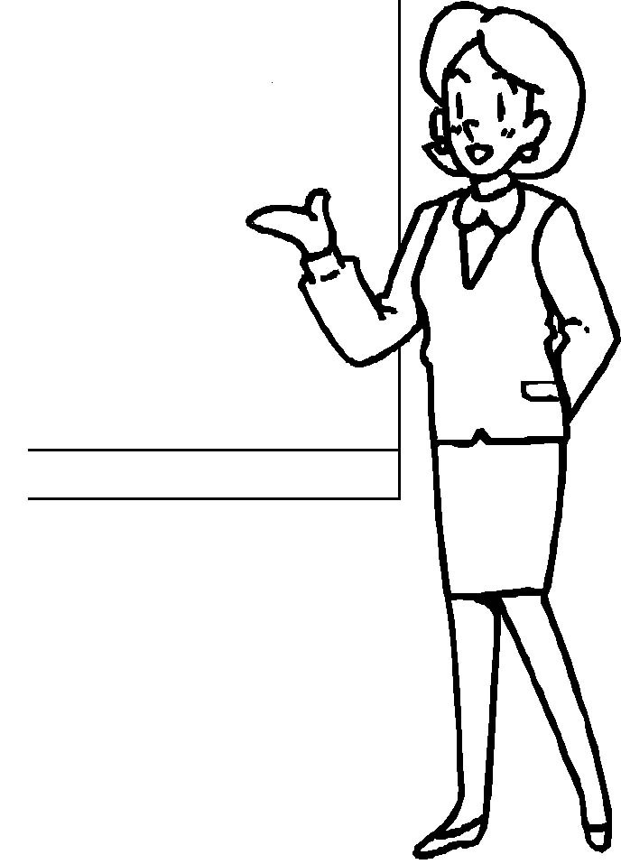 coloring pages of a teacher - photo#3