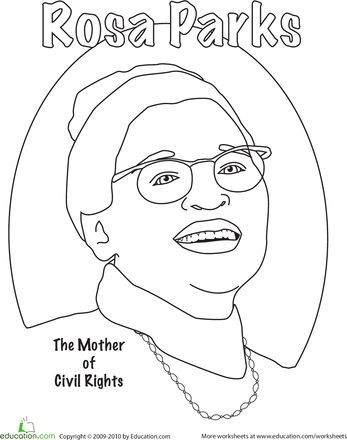 Rosa Parks Coloring Pages Coloring