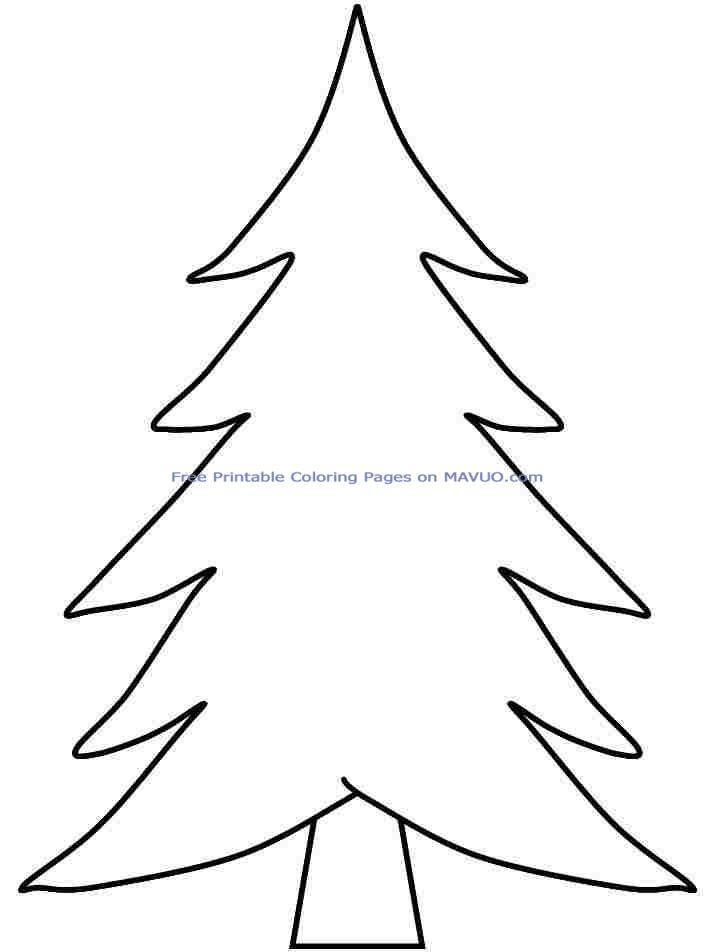 Coloring Sheets Christmas Tree Printable Free For