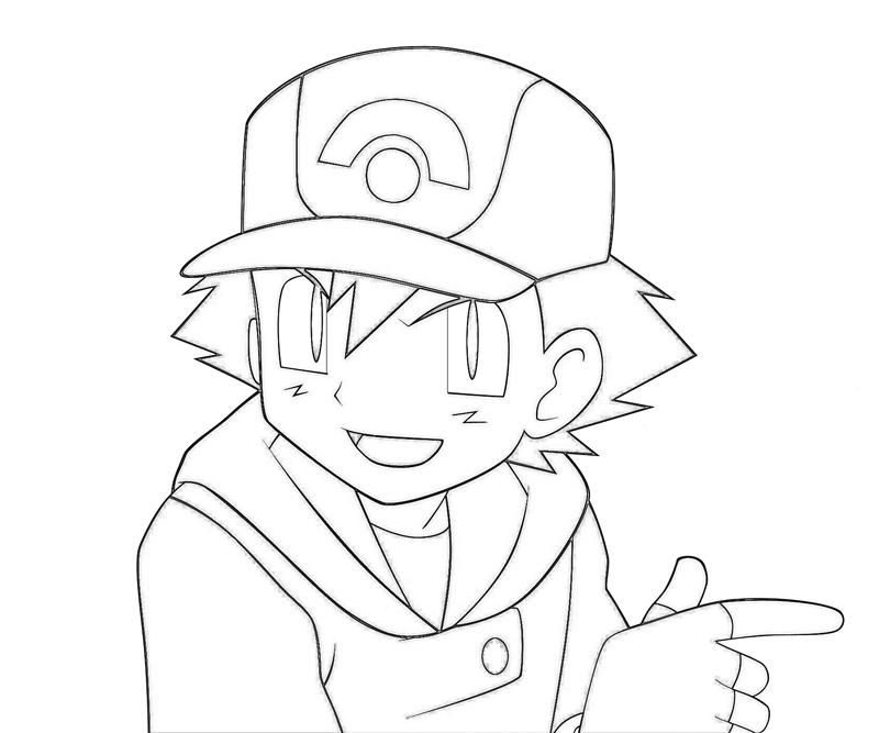 ash misty coloring pages - photo#4
