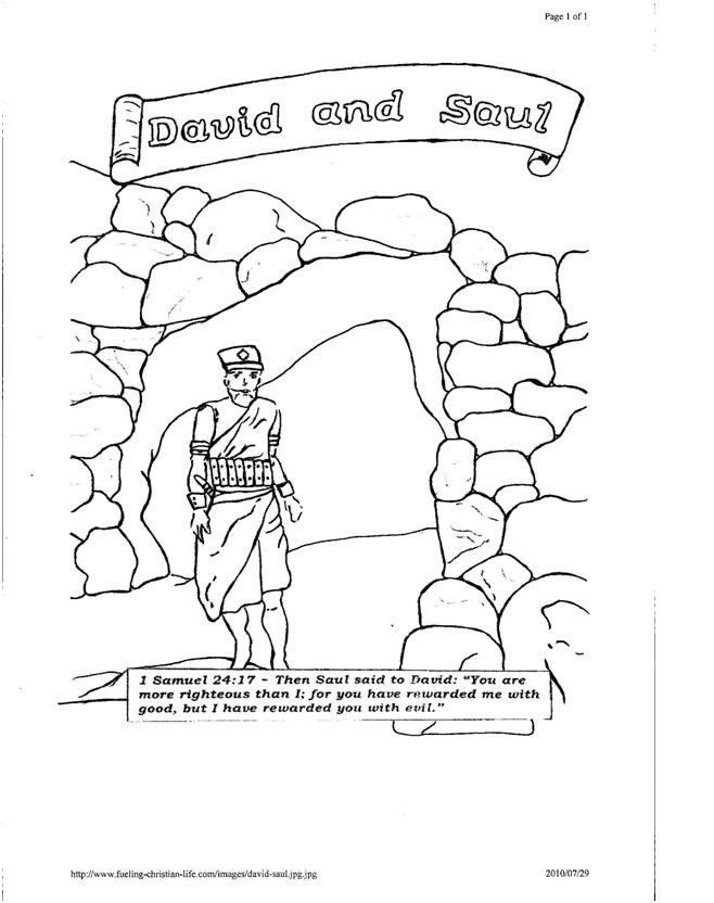 david the king coloring pages - photo#23