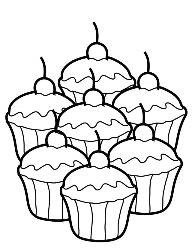 Colouring Pages For Cupcakes : Free coloring pages of cupcake pictures