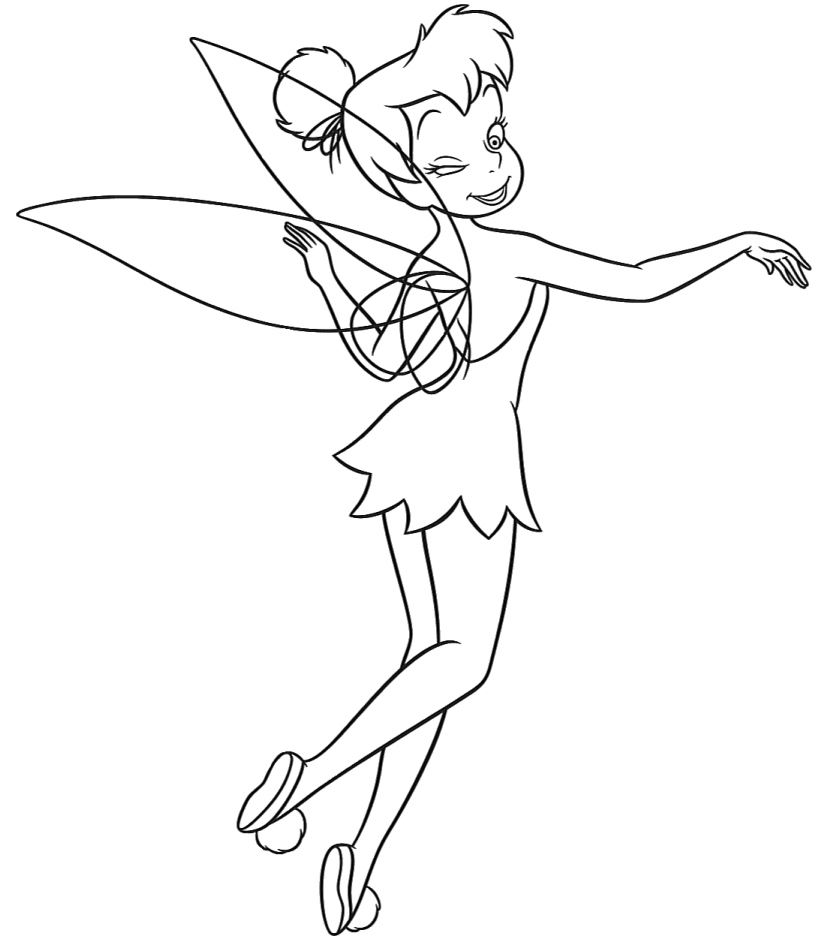Free tinkerbell printables az coloring pages for Tinkerbell christmas coloring pages