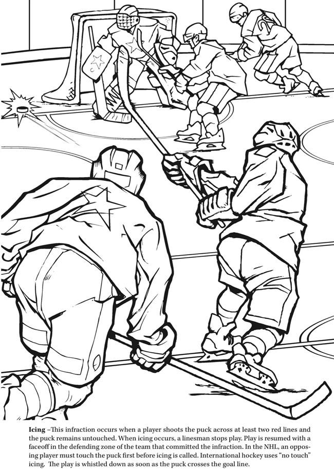 Ice hockey coloring pages az coloring pages for Ice hockey coloring pages