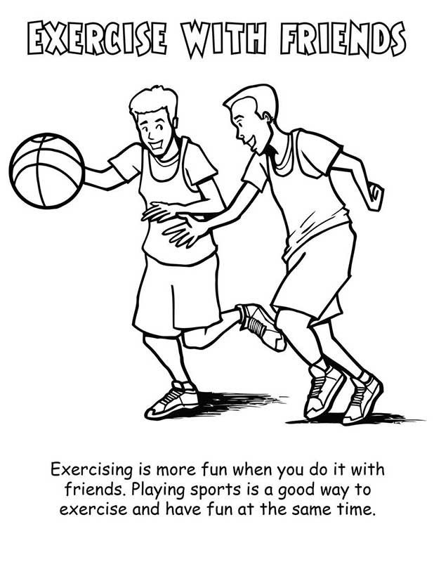 Fitness Coloring Pages For Kids Az Coloring Pages Fitness Coloring Pages
