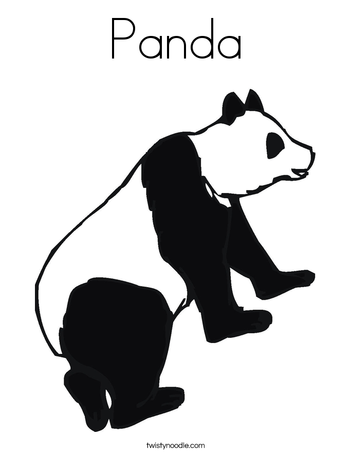 panda bear pictures coloring pages - photo#34