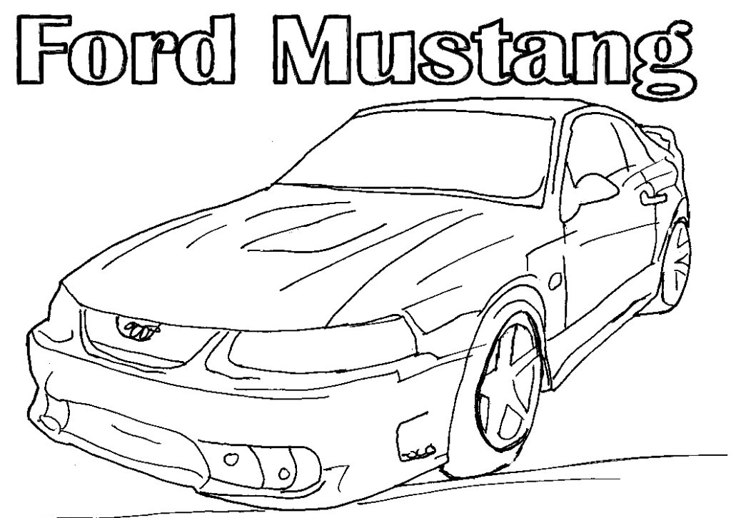 Car Coloring Ford Cars Free Sheets Mustangs Creativity Car