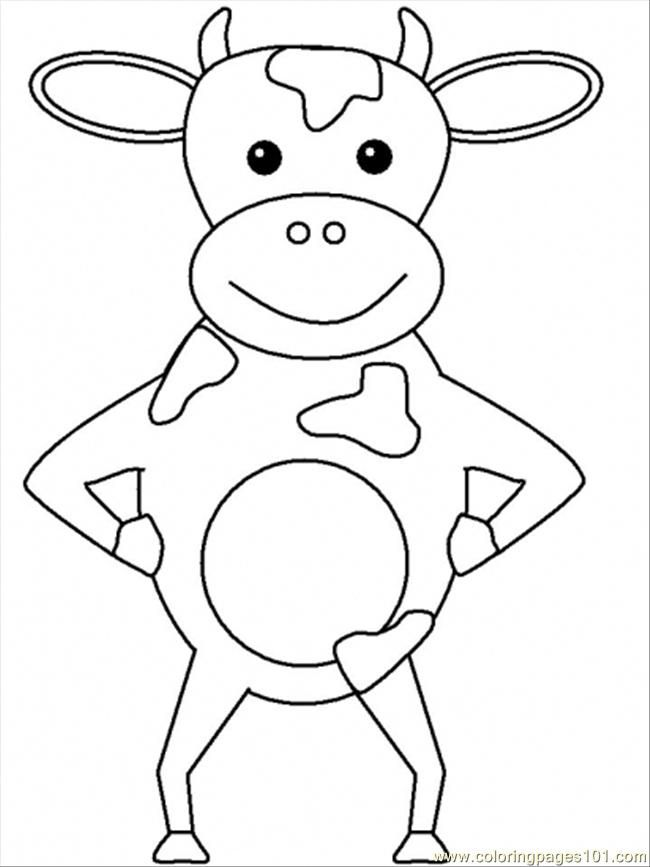 Cow Coloring Pages Free Printable