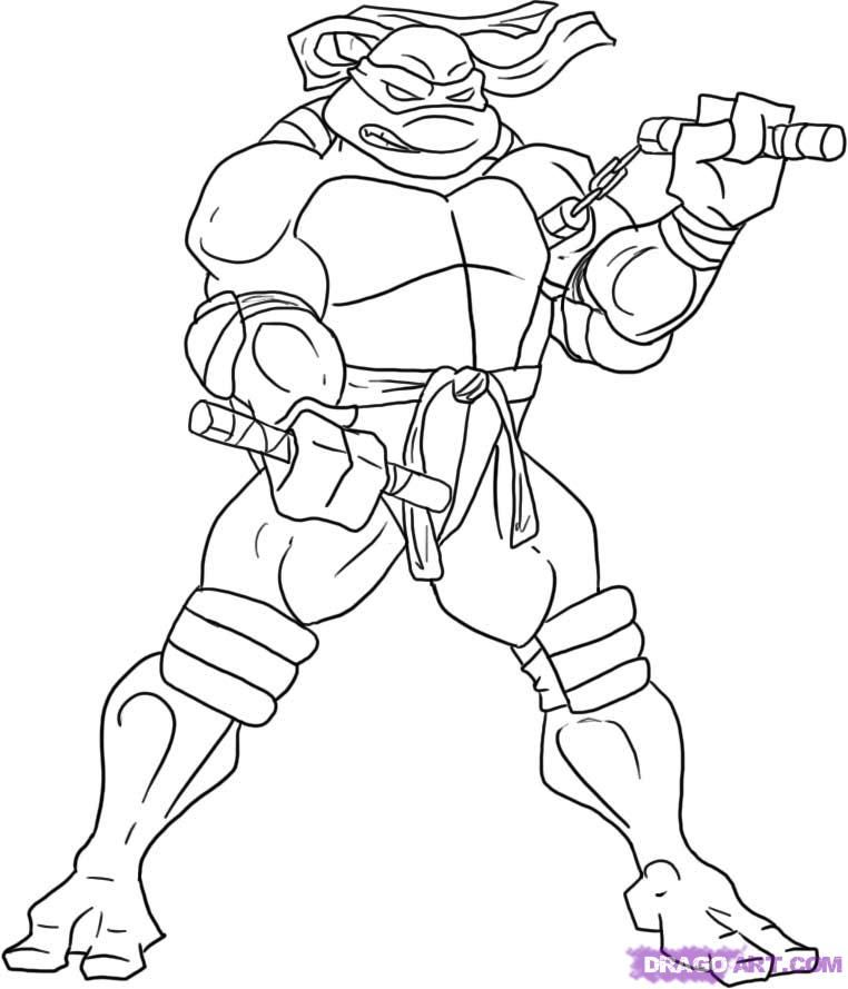 tmnt 2003 michelangelo coloring pages - photo#4