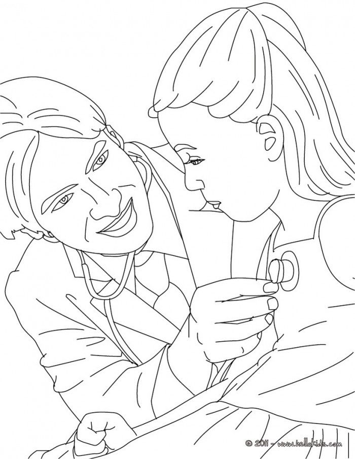 Doctor Coloring Pages For Kids | 99coloring.com