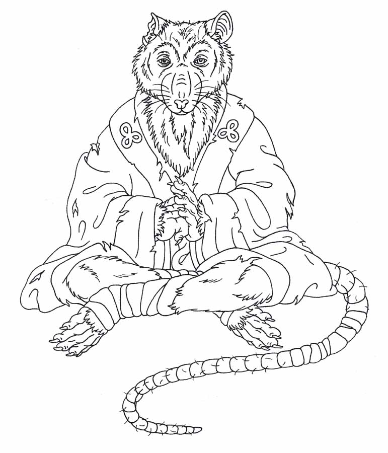 ninja turtle coloring pages splinter - photo #6