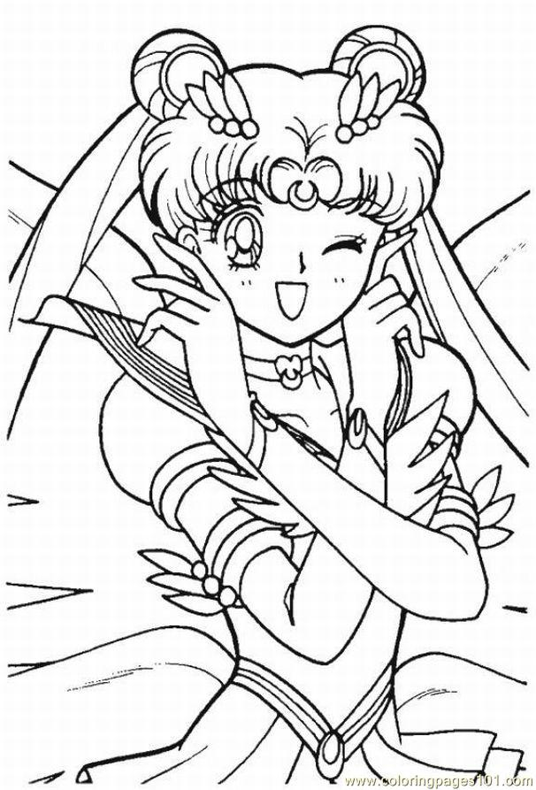 Coloring Pages Sailor Moon07 (Cartoons > Sailor Moon) - free