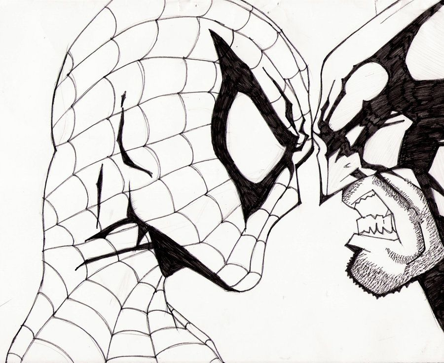 coloring pages spiderman easy drawings - photo#3