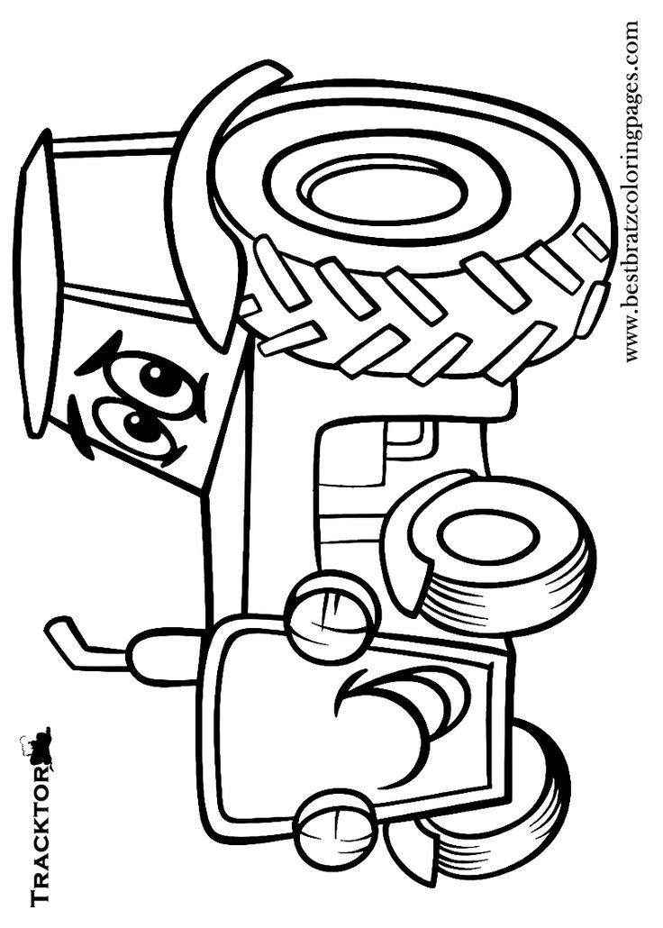 tractor coloring pages for toddleers - photo#25