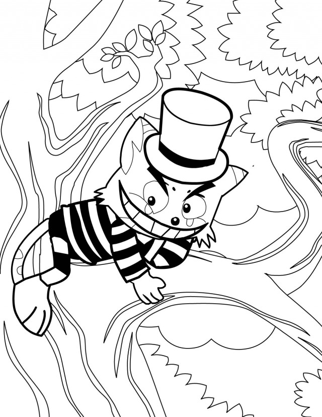 cheshire cat coloring page az coloring pages