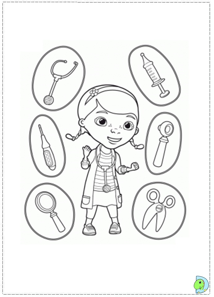 doc mcstuffins logo coloring pages - photo#14