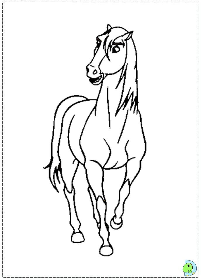 spirit stallion free coloring pages - photo#20