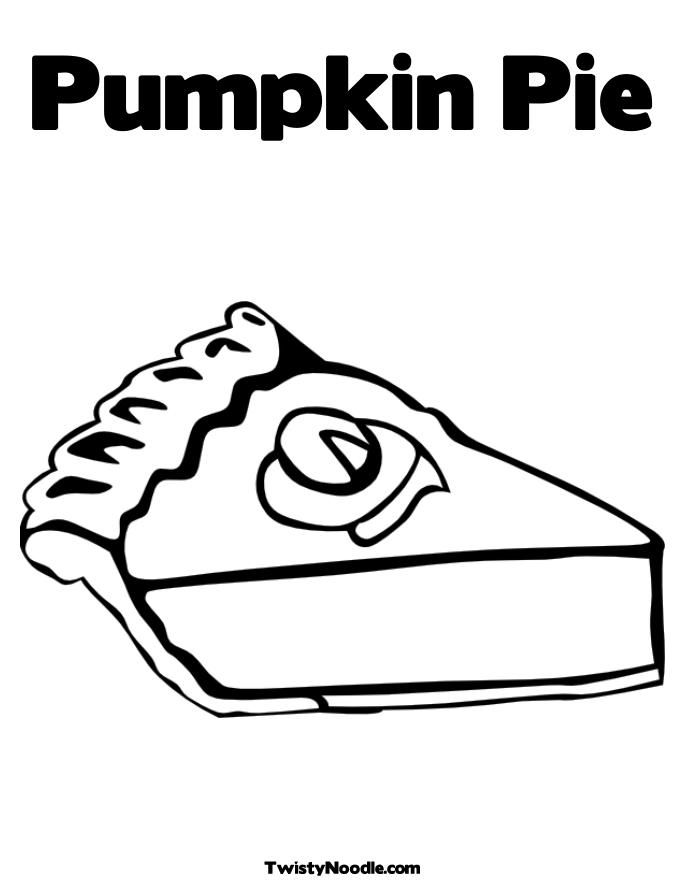 Pumpkin Pie Coloring Page - Coloring Home