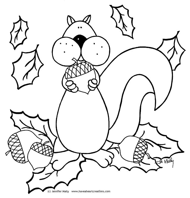 squirrel color page az coloring pages